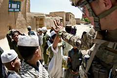 High five (The U.S. Army) Tags: afghanistan c patrol ghazni 2504pir