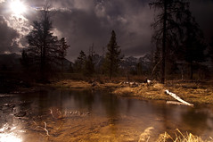 Golden Glow_DSC0639 (antelope reflection) Tags: sun storm reflection water clouds stream tetons tetonnationalpark nikond90 nspp
