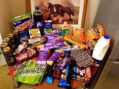 Junk Food - Needed Supplies (kirky29) Tags: red food chicago green apple cookies shopping wagon asda town milk mms junk energy cola rockstar drink juice chocolate wheels cereal maryland chips walmart pizza hersheys crisps pies junkfood hershey biscuits pepsi grocery lays supplies princes oreos walkers foxes coca rc crunch pukka wal mart mccains peperami