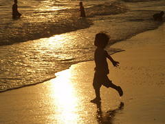 Golden beach (Rich Friend) Tags: family sunset sea vacation holiday beach water childhood kids swimming swim thailand gold golden coast asia peace joy wave happiness diving running olympus glad zuiko waterscape jumpforjoy catchawave