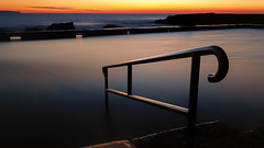 Hold on tight! (James.Breeze) Tags: ocean seascape beach water pool swim sunrise landscape sand rocks raw seascapes sydney australia nsw handrail reef tidalpool saltwater northernbeaches beachsunrise canonef1740mmf4l ef1740mmf4lusm jamesbreeze