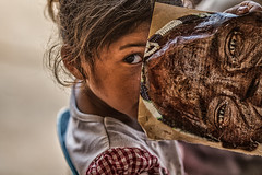 human eyes (~mimo~) Tags: trip travel color eye girl look magazine photography eyes asia cambodia sihanoukville child drawing picture human photograph mimokhair