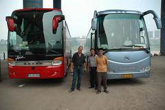 Busparkplatz Chongqing Szechuan China mit Avanti Bus