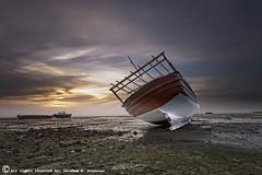 The Old Boat (ibrahem N. ALNassar) Tags: canon eos mark n ii 5d kuwait usm ef 1740mm f4 q8 ابراهيم الكويت كويت alnassar كانون ibrahem النصار نصار