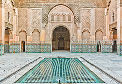 Ben Youssef Madrasa's central Patio (Beum Gallery) Tags: africa architecture minaret muslim islam mosque morocco maroc marrakech souk marrakesh souks oldcity afrique mosquée muslimculture musulman madrasa medersa المغرب alibenyoussef oldmedina المملكةالمغربية แอฟริกา médersa benyoussefmadrasa อิสลาม มุสลิม ecolecoranique coranicschool architectureislamique souika médersabenyoussef المغرب โมร็อกโก มัสยิด เมืองเก่า สถาปัตยกรรม مراكش مدرسةابنيوسف anciennemédina เมดินา มาร์ราแกช araboandalouse architecturearaboandalouse culturemuslumane หอสวดมัสยิด anciennecapitale abualhassan เมดิน่า สถาปัตยกรรมอิสลาม