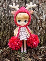 Bonnet in fraise