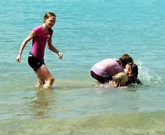 Chris Ehley-Jennifer Bauras Kids in Chicago 151 1 (Trucker Rob) Tags: girls sun lake beach wet water kids d50 fun nikon michigan north end chicagoil 622012 chrisehleyjenniferbauraskidsinchicago