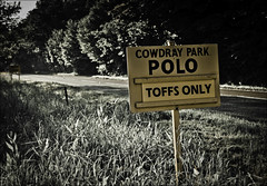 Cowdray Park Polo sign. (Robots are Stupid) Tags: sign sport 50mm sussex nikon comedy westsussex lol joke roadsign spoof signpost roadside polo princecharles equestrian southdowns chav gentry midhurst countrylife classwar riffraff polomatch toffs upperclass landedgentry 50mmnikkor aristocrats sportingevent hoipolloi cowdray cowdraypark a272 greatunwashed d700 nikond700 cowdrayestate southdownsnationalpark daviddalley davidjdalley spoofsign cowdrayset