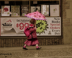 ladybug (BettieBlu) Tags: pink girls urban streets colour vancouver children bc bettieblu