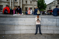 (Matt Obrey) Tags: street man colour london architecture hand flash streetphotography x100 fujix100