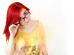 Nerd Chic (Lil Larkie) Tags: red portrait selfportrait nerd girl self hair starwars redhair