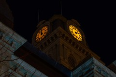 Clock Tower (ramseybuckeye) Tags: life county ohio tower art clock face night dark allen lima time pentax courthouse illumniated
