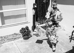 Egg Hunt (melfoody) Tags: bw kids 35mm easter blackwhite candid running explore egghunt explored