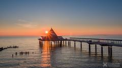 Heringsdorf Pier on the island of Usedom / Baltic Sea (Nolle15) Tags: sea sunrise de deutschland pier baltic inspire ostsee usedom x5 mecklenburgvorpommern seebrcke heringsdorf dji zenmuse