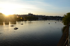 Praha sunset (m.genca) Tags: city sunset river boat nikon europa europe barca tramonto czech prague fiume praha praga czechrepublic acqua pedalo genca d7000 marcogenca