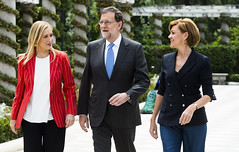 Mariano Rajoy junto a Cristina Cifuentes y M Dolores de Cospedal (Partido Popular) Tags: rajoy pp marianorajoy partidopopular 26j eleccionesgenerales cospedal mariadolorescospedal cristinacifuentes