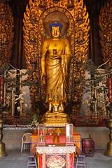 Shanghai, Longhua temple (blauepics) Tags: china city building statue architecture temple gold golden shanghai buddha religion buddhism stadt architektur gebude tempel longhua buddhismus schanghai