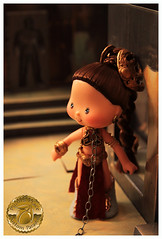 Princess Leia Slave Girl Custom 3 (Plum's Place) Tags: starwars princessleia strawberryshortcake ooakdoll slavegirlleia retro80s retrotoys plumsplacecustoms plumsplace