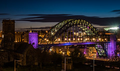 Newcastle Cityscape 3 (View From The Chair Photography) Tags: city bridge night lights cityscape nighttime