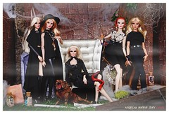 Coven (Michaela Unbehau Photography) Tags: snow lana fashion zoe photography doll elise erin story madison american horror myrtle giselle fiona montgomery benson fr coven royalty michaela diorama lilith cordelia foxx goode fr2 nuface unbehau