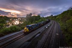 Sunset on the C&O (Brandon Townley) Tags: railroad sunset ohio clouds trains columbusohio thunderstorm coal storms csx