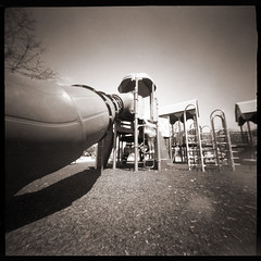 Playground # 4 (WPPD) (DRCPhoto) Tags: world photography day kodak pinhole t400cn 2016 wppd ondu lenslessphotography