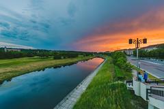 Sunset | Kaunas, Lithuania #151/365 (A. Aleksandraviius) Tags: sunset people river evening nikon sala 365 nikkor hdr lithuania kaunas lietuva 2016 project365 365days 1424 d810 151365 nikond810 1424mm namuno 3652016