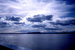 stormy sky 3 (lisafree54) Tags: blue sky white storm nature water rain clouds free stormy cumulus glowing cco freephotos