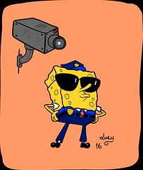 Bob, the security guard (kittycatlucy) Tags: sponge bob security guard funny drawing illustration