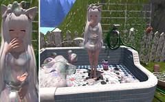 Bubbly neko (Yukiterudiary) Tags: sl second life soy neko kawaii anime tamagosenbei bubble gacha guardians event