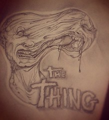 The Thing Face Split (ZZFX) Tags: detail art film pencil dark painting paper weird sketch scary paint artist drawing vampire zombie character horror create concept spawn fx darkart spfx zzfx