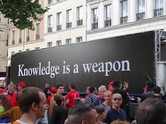 Knowledge is a weapon (Jeanne Menjoulet) Tags: marchedesfiertés lgbt paris 2juillet2016 lesbiangaypride trans gaypride pride knowledge weapon lbgt