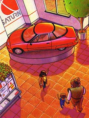 1996 GM EV1 Storybook (aldenjewell) Tags: 1996 gm ev1 childrens storybook saturn dealership