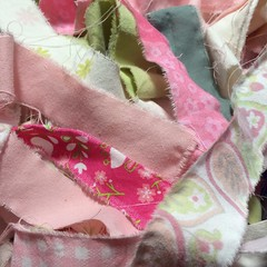 "I have spent my morning prepping these fabrics to work on a jumbo market tote basket. I just love these pink and green solids and patterns together. I can't wait to see the basket start to take shape!  #1840farm #fabric #handmade #basket #pink #green #ets • <a style=""font-size:0.8em;"" href=""http://www.flickr.com/photos/54958436@N05/27612279866/"" target=""_blank"">View on Flickr</a>"