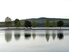Sunset by the river (Patrik Fagerstrm) Tags: trees sunset lake nature river lumix sweden roadtrip sverige srna lakescape fz200