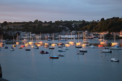 Ray of Sunset (charliejb) Tags: sunset sea sun holiday water boats coast cornwall harbour dusk yachts falmouth 2016 packetquays