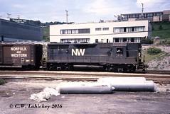N&W 1313 on 8-13-79 (C.W. Lahickey) Tags: nw greentree emd gp35