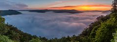 Rivire de nuages (Tekila63) Tags: mist sunrise landscape nuage paysage auvergne brume panoramique sioule seacloud