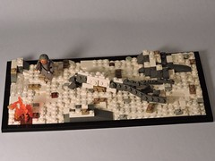 Native American Diorama (brickdetailer) Tags: winter snow tree brick fire montana lego native american fallen tribe citizen
