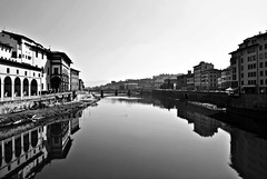 Firenze - Florence (Ambryf93) Tags: river florence fiume bn firenze arno pontevecchio oldbridge florentia