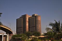 PRC Towers, Karachi (Wajahat Mahmood) Tags: port karachi hdr highdynamicrange picnik kemari maikolachibridgebuildingprctowersprctowerpakistanreinsurancecompanypakistanportgrand
