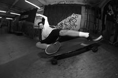 Back To The 80's (Dan Hensey) Tags: bw white fish black eye back flat skateboarding leicester skating bert bank slide fisheye skatepark 80s skate future brookfield 1980 boardroom broom the forde