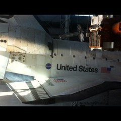 Wings that have been to orbit #Discovery @airandspace #NASASocial #STS133 #NASATweetup #nofilter