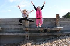 IMG_6819 (Emily Winkworth) Tags: beach jump pebbles whitstable