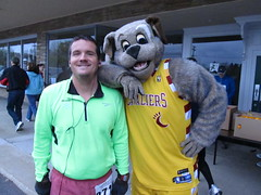 He suggested we take a Shooting Guard with our 1st round pick. (Moondog Mascot) Tags: 100k moondog cavaliers beechbrook 04222012 fleetfeetsports5k