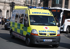 British Red Cross / Renault Master / Emergency Ambulance / AE05 KTF (Chris' Transport Pics) Tags: life uk blue light england film speed hospital lights nikon bars pix fuji threatening united fine 911 blues samsung kingdom ambulance medical health national nhs finepix trust and fujifilm service hd saving emergency medic paramedic savers 112 siren 999 twos strobes lightbars rotators d3000 leds s2750