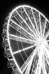 Ferris wheel-1 (Pat Charles) Tags: park bw night lights blackwhite nikon ride fairground fremantle westernaustralia icapture flickraward flickraward5 flickrawardgallery
