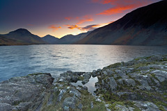 Wastwater Sunrise (mark_mullen) Tags: uk england mountains english nature beautiful rural sunrise landscape countryside scenery shadows natural britain lakedistrict scenic scafellpike british colourful tranquil wastwater rugged eskdale greatgable redpike deepest canon1740f4 canon1dsmkii kirkfell wasdalevalley markmullenphotography