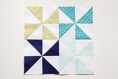 HST Block of the Month: April (Jeni Baker | In Color Order) Tags: modern triangle quilt handmade sewing quilting stitching block quilts bom crafting hst blockofthemonth halfsquare incolororder