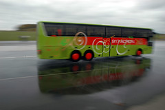 Sicherheitstraining Bus Lausitzring - Bremsen auf nasser Fahrbahn III